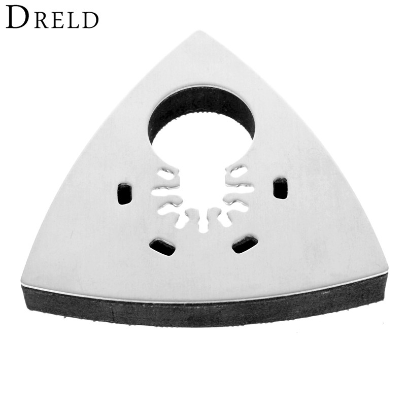 1Pc 93mm Triangular Polishing Sanding Pad Oscillating Multi Tool Wood Cutting For Multimaster Bosch Dremel Renovator Power Tools