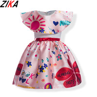 ZIKA Girls Dresses Polyester Children Wedding Party Dress Cartoon Kids Evening Gowns Lovely Baby Frocks Clothes