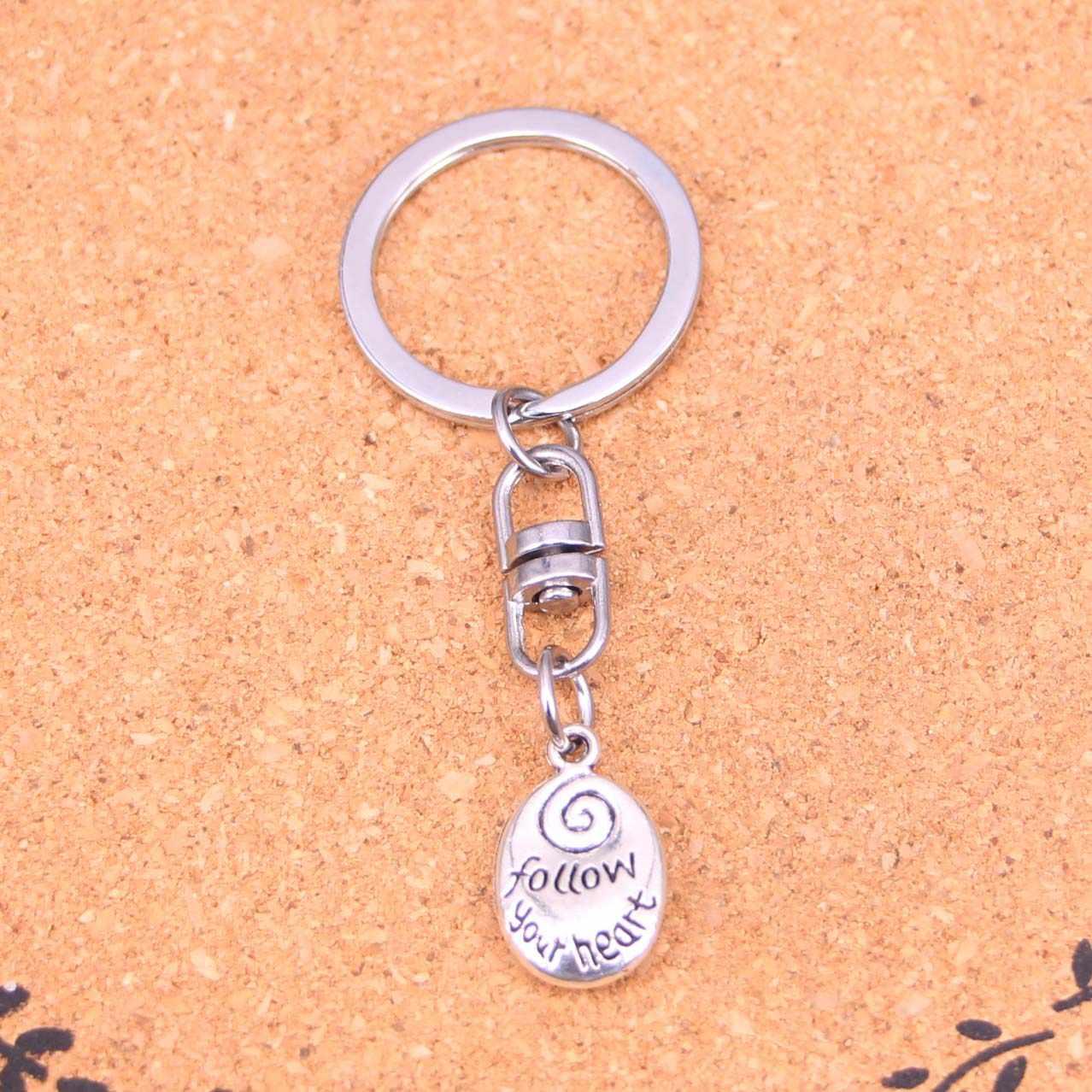 20 Pcs siga seu coração Chaveiro Novidade Dispositivo Bugiganga Presente de Natal Lembrança Keychain Transporte da gota