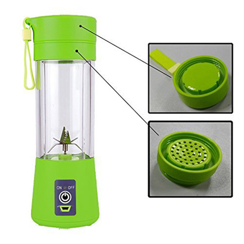 400ml Portable Personal Juice Blender And USB Juicer Cup With Multi-function For Smoothies And Baby Food 8