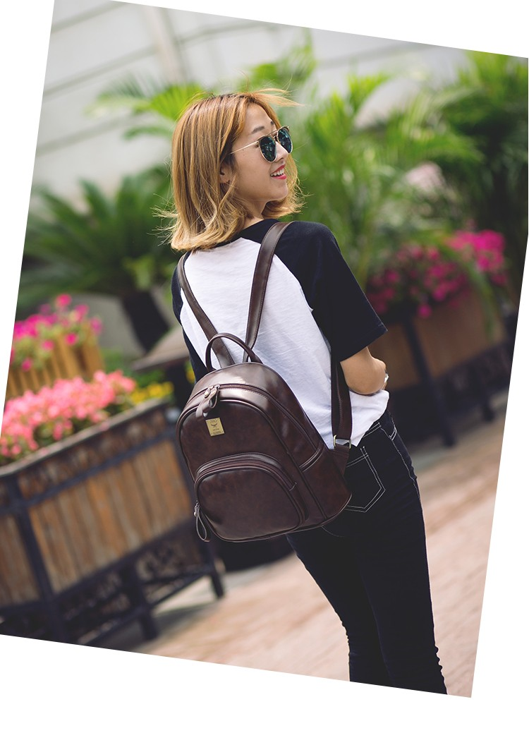 2016 Fashion Vintage Black PU Leather Backpacks For Women Preppy Bookbag New Cheap Designer Backpack Brand Couro Mochilas Mujer (6)