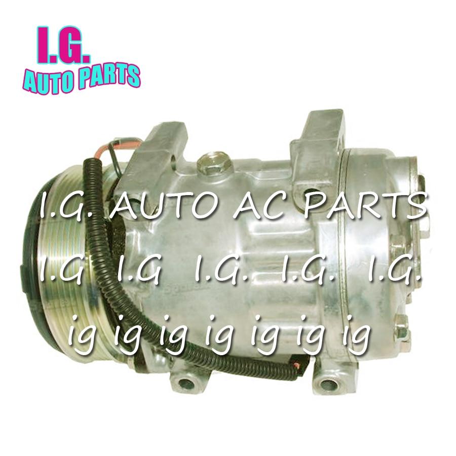 Compresseur AC haute qualité QP7H15 pour voiture MASSEY FERGUSON TYPE 6495 référence. QP8244