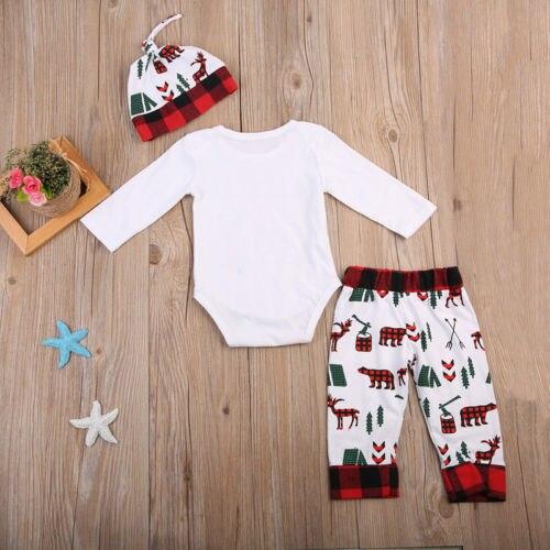 2017 Рождество новорожденного для маленьких мальчиков Комплекты для девочек одежда «Little Man» с длинным рукавом ползунки боди и леггинсы Костю...