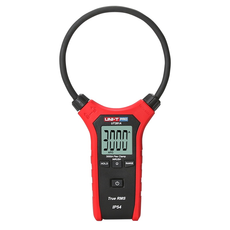 UNI-T UT281A Smart AC Digital Flexible Clamp Meter Multimeter Handheld Voltage Current Resistance Frequency tester uni t multimeter ut105 automotive multimeter ac dc voltage current resistance test meter handheld multimeter digital multimeter