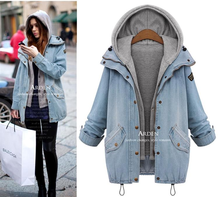 Compare Prices on Hooded Denim Jacket Womens- Online Shopping/Buy ...