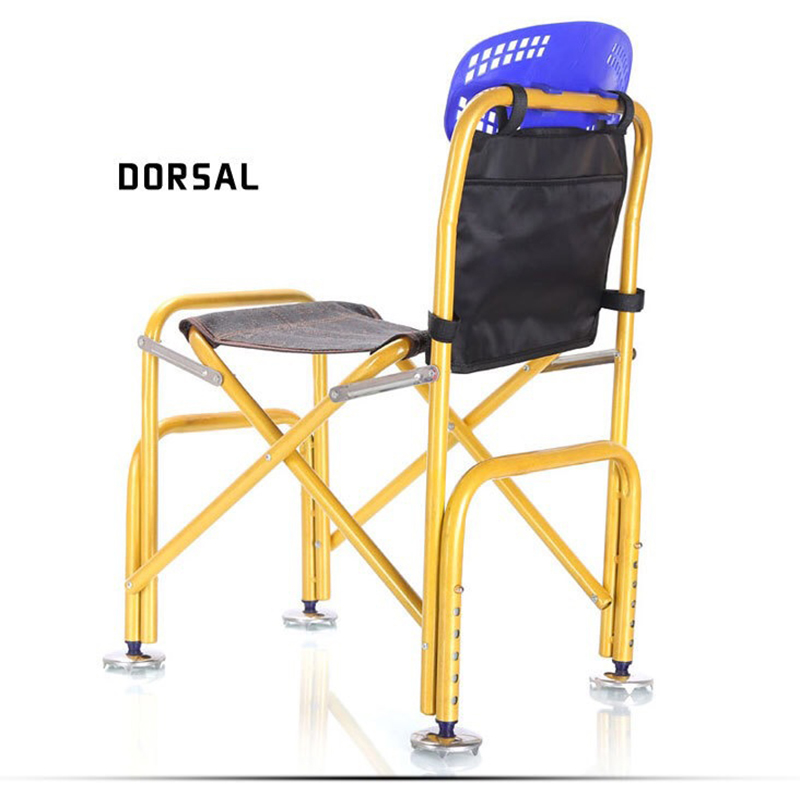 Aluminum Alloy Deckchairs Fishing Chair Rod Holder Camping Extended Folding Beach Leisure Fishing Stool for Relaxed Fishing Tool new arrival high quality folding fold aluminum chair outdoor stool seat for fishing for camping