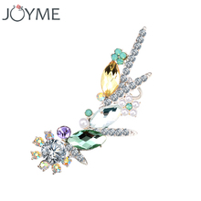 Joyme New Crystal Women Stud Cuff Earrings For Clip On Ear Hiphop Steampunk Cool Fashion Jewelery 1 pcs