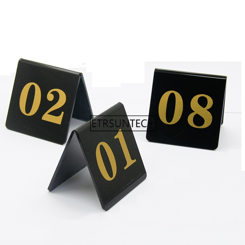 Acrylique Table numéro cartes mariage Restaurant café Bar Table numéros bâton ensemble pour mariage fête d'anniversaire fournitures 1-100