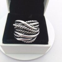 A Wholesale Fashion Jewelry Silver 925 Rings For Woman Compatible With Pandora Thailand Retro Charm Jewelry