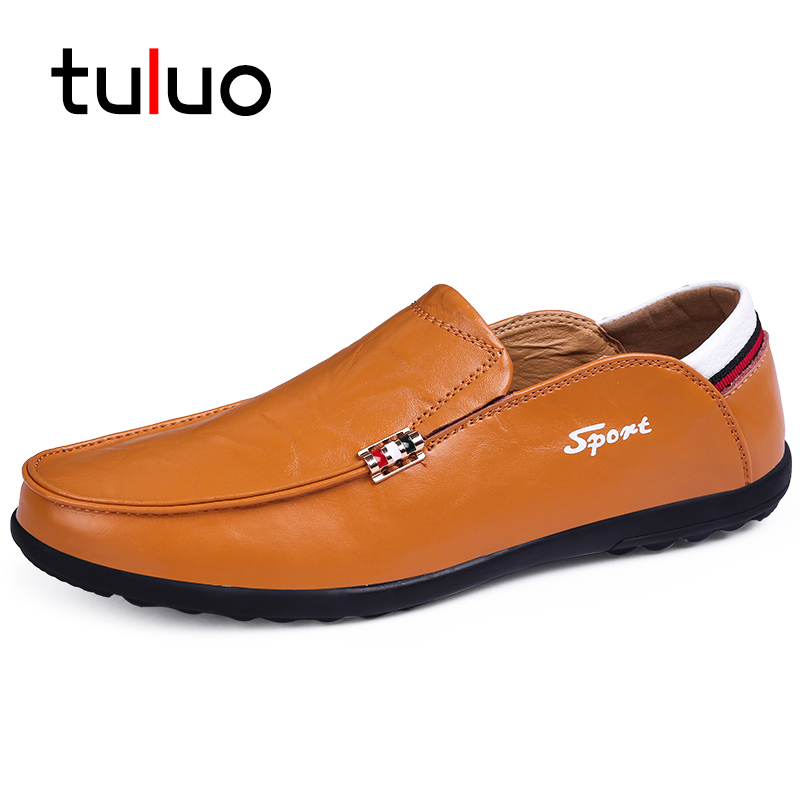 TULUO Luxury Brand New Soft Moccasins Men Loafers Leather Shoes Male Flats Driving Shoes Outdoor Mens Shoes Casual Boat Footwear northmarch classic spring summer moccasins men loafers shoes male flats genuine leather casual driving shoes mens footwear