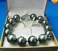 Wonderful 12MM Black South Sea Shell Pearl Bracelet