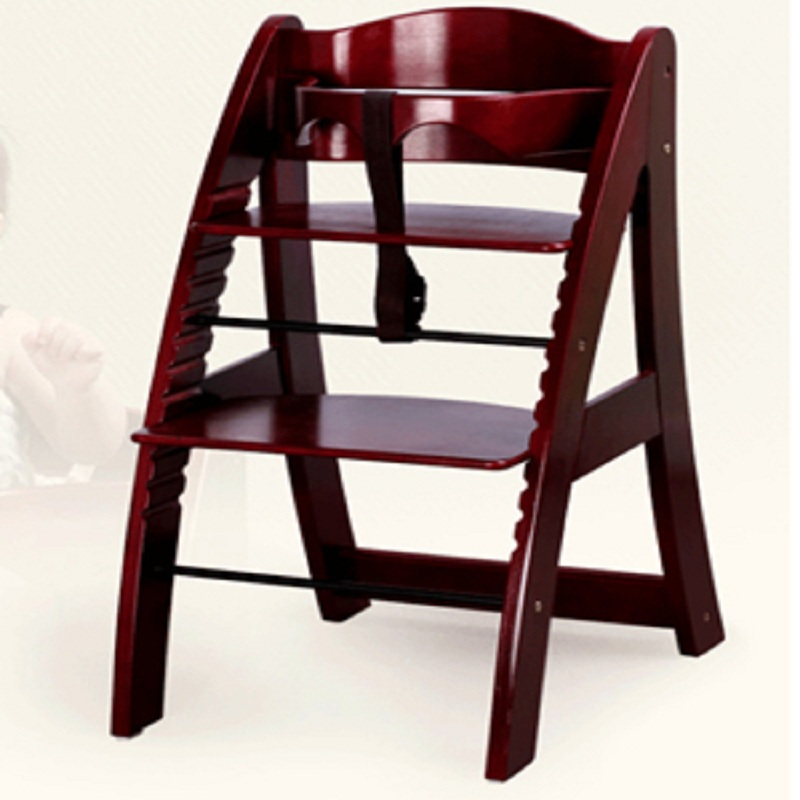 Solid Wood Dining Chair Multifunctional Shaped Type Baby Seat Big Child Dining Chair High Chair Height Adjustable Chair