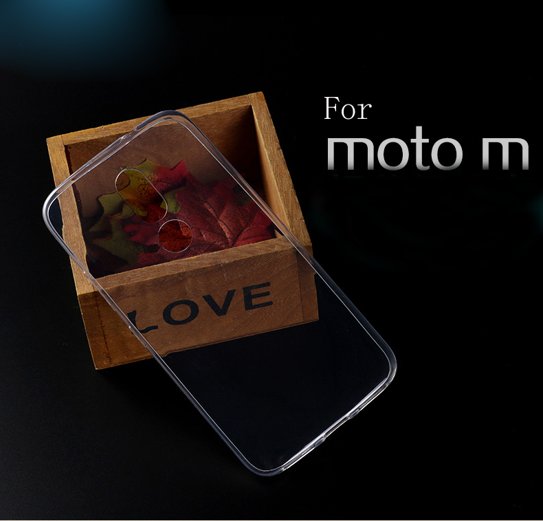 Ultra Thin Soft Silicone Clear TPU For <font><b>Motorola</b></font> <font><b>Moto</b></font> M XT1662 <font><b>XT1663</b></font> Phone <font><b>Case</b></font> Transparent Silicone Back Cover image