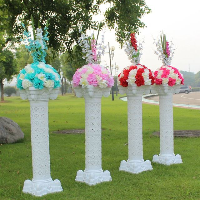 Aliexpress Buy New Style Wedding Plastic Column White Roman Pillars Decorative Wedding