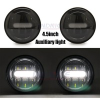 2018 newest 4.5inch Black LED Auxiliary Fog Lamps for harley davidson Passing Light for all Harley models