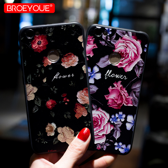 the best attitude 79ddc 34472 US $0.85 34% OFF|BROEYOUE Case For Xiaomi Redmi Note 5A Prime Y1 Lite Cases  3D Relief Back Cover Fashion Flowers Case For Redmi Note 5 Pro Cover-in ...