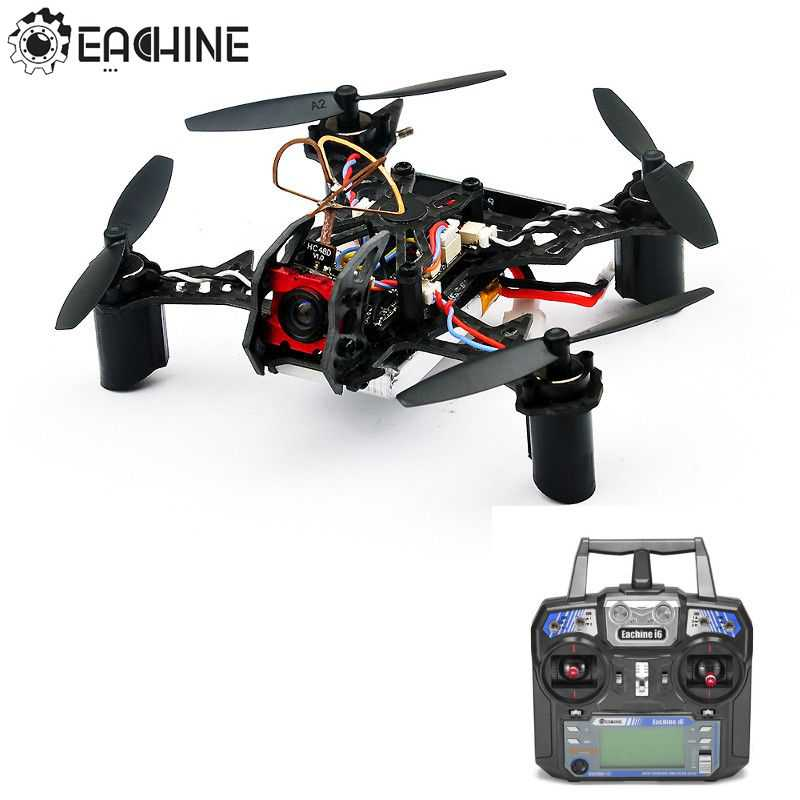 цены Eachine BAT QX105 105mm Micro FPV LED Racing Quadcopter w/AIOF3 OSD Eachine i6 Transmitter RTF