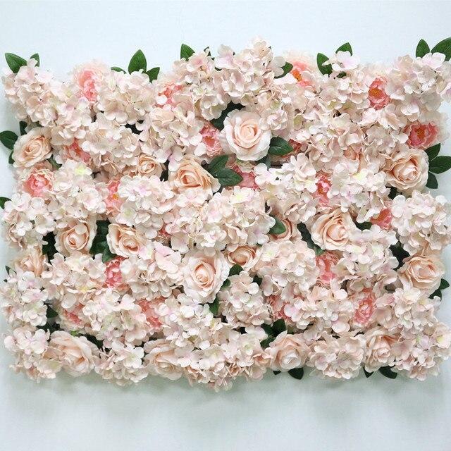 Flone Artificial Flower Row Hydrangea Rose Silk Flowers Wedding Flower Supplies Flower Wall Arches Wedding Party Backdrop Decor