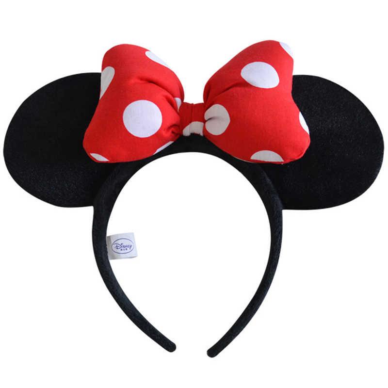 Оригинальная головная повязка Дисней Микки Минни бабочка Бант обруч для волос головной убор плюшевые игрушки аксессуары для детей девочек