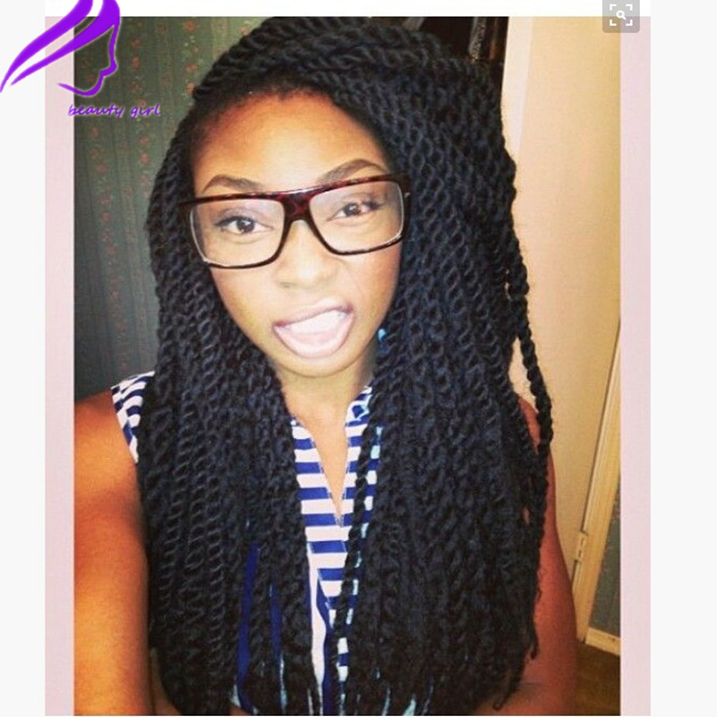 front hair braid styles fashion africa american style synthetic braiding hair wig 7932