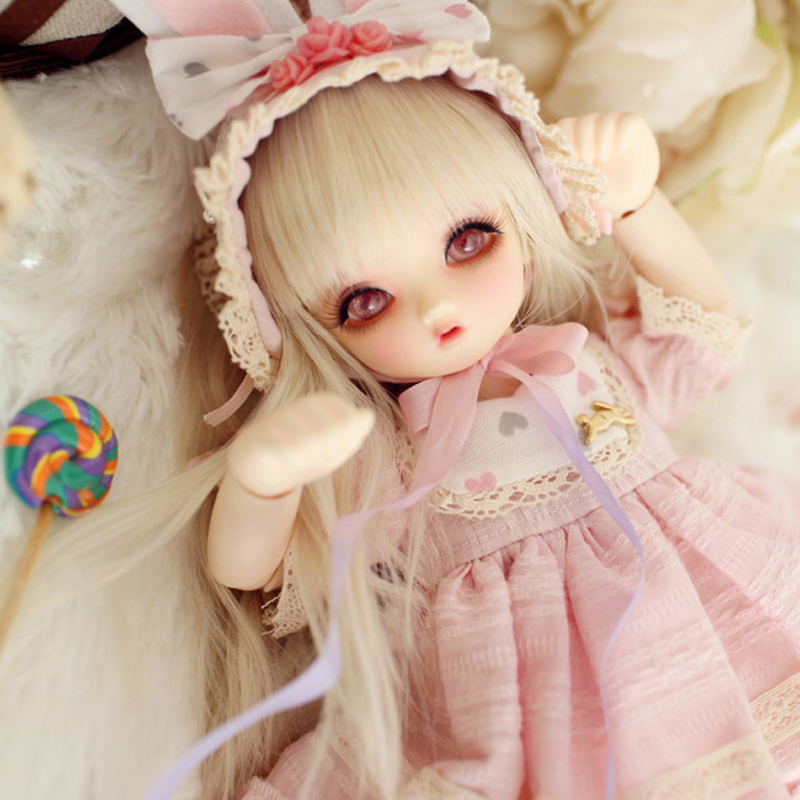 цены New Arrival 1/6 BJD Doll Fashion LOVELY Cute LM Lucile Joint Doll For With Glasss Eyes For Baby Girl Birthday Christmas Gift
