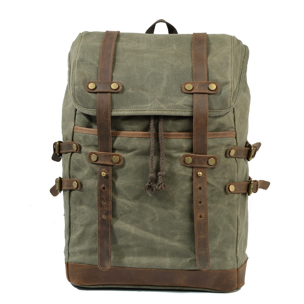 Waterproof backpack Canvas Men Vintage backpack Male Luggage Shoulder Bag Computer Backpacking Men Functional Versatile Bags fashional men blue canvas backpack huge travel school shoulder computer backpacking hot sale male functional versatile bags h012