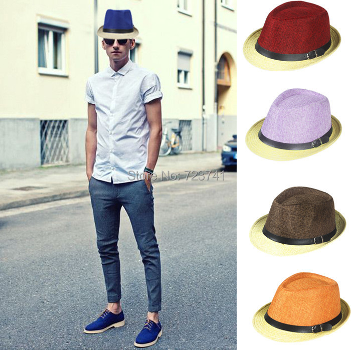 Fashion Womens Mens Unisex Visor Fedora Cap Summer Beach Floppy Sun