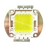 שבב 45mil מתח גבוה 100 W כיכר בסיס קר לבן 8000LM 10000 K ~ 15000 K SMD LED מנורת אור חלקי