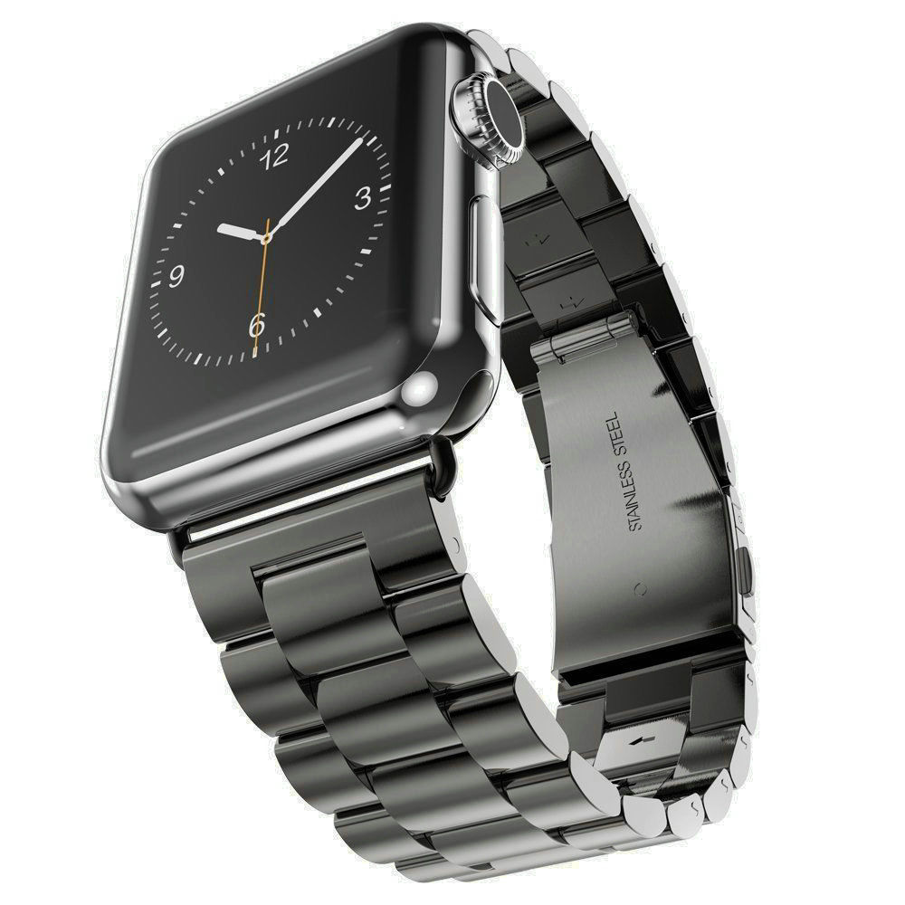 For Stainless Steel Strap Classic Buckle Adapter Link Bracelet Watch Band for Apple Watch Sport Edition