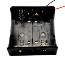 1PCS חוט עופרת סוללה בעל מקרה תיבת ללא כיסוי עבור 2 x D גודל 3V סוללות 75.3x75.6x35.1MM