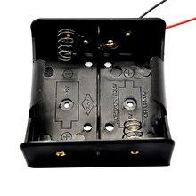 1PCS Draht Leaded Batterie Halter Fall Box Ohne Abdeckung Für 2 x D Größe 3V Batterien 75,3x75,6x35,1 MM