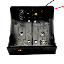 1PCS Wire Leaded Battery Holder Case Box Without Cover For 2 x D Size 3V Batteries 75.3x75.6x35.1MM