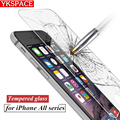 Hot new 0.26mm 9H HD 2.5D Real front back Tempered Glass Screen Protector film For iPhone 4 4S 5 5S 5C SE 6 6s Plus 7 7Plus