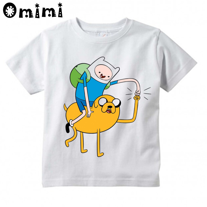 Kids Finn And Jake Adventure Time Design T Shirt Boys And Girls Great Casual Short Sleeve Tops Children's Funny T-Shirt