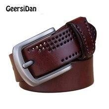 GEERSIDAN 2018 designer high quality men belt luxury brand genuine leather pin buckle belts for fashion business male