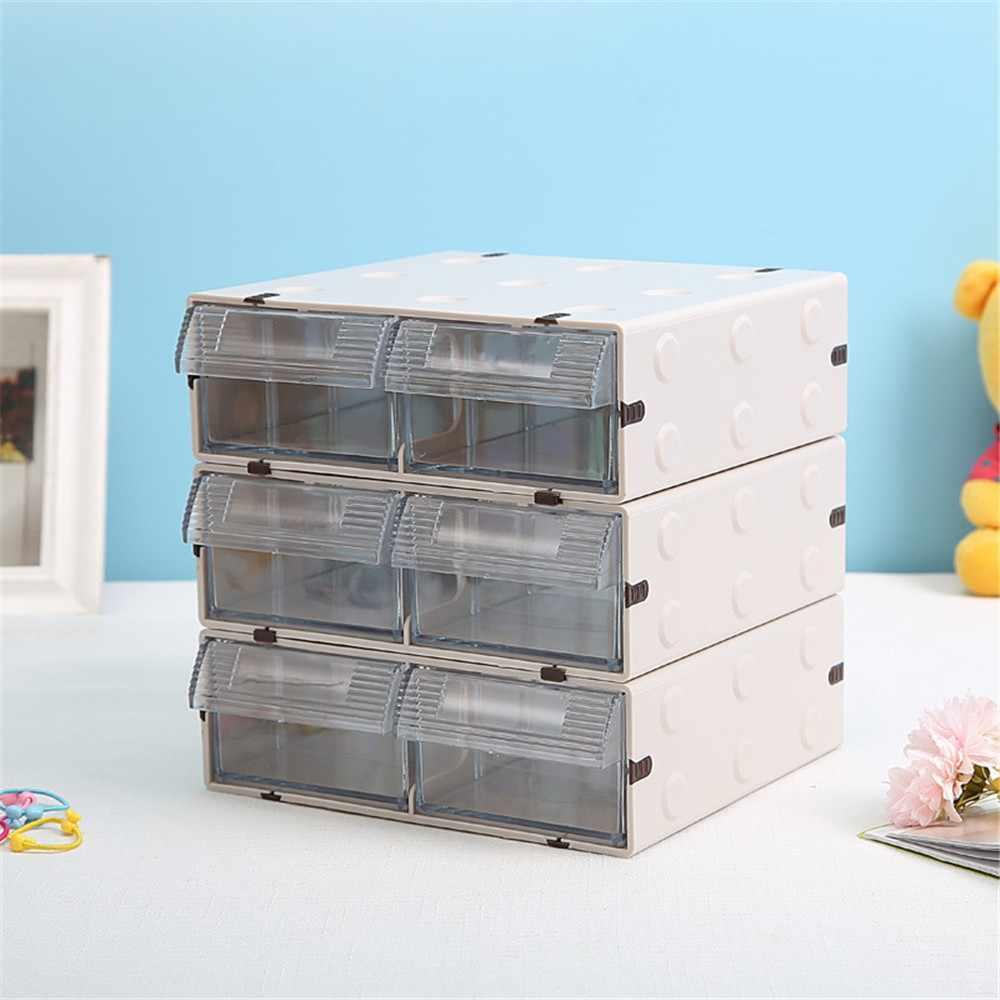 ขั้นสูง Minimalist Multi - Function โต๊ะเครื่องสำอาง Organizer ผู้ถือกรณีตาราง Desktop Storage กล่องลิ้นชักสำหรับ Home Office