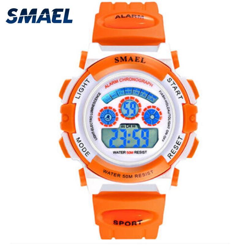 New SMAEL Brand Children Watches Sports Waterproof LED Digital Wristwatch For Girls Boys Toy Watch Best Gifts For Children 0704