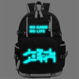 Image 3 - No Game No life I Love Human Cosplay Backpack Cartoon Luminous Student School Shoulder Bag Teenage Laptop Travel Bags