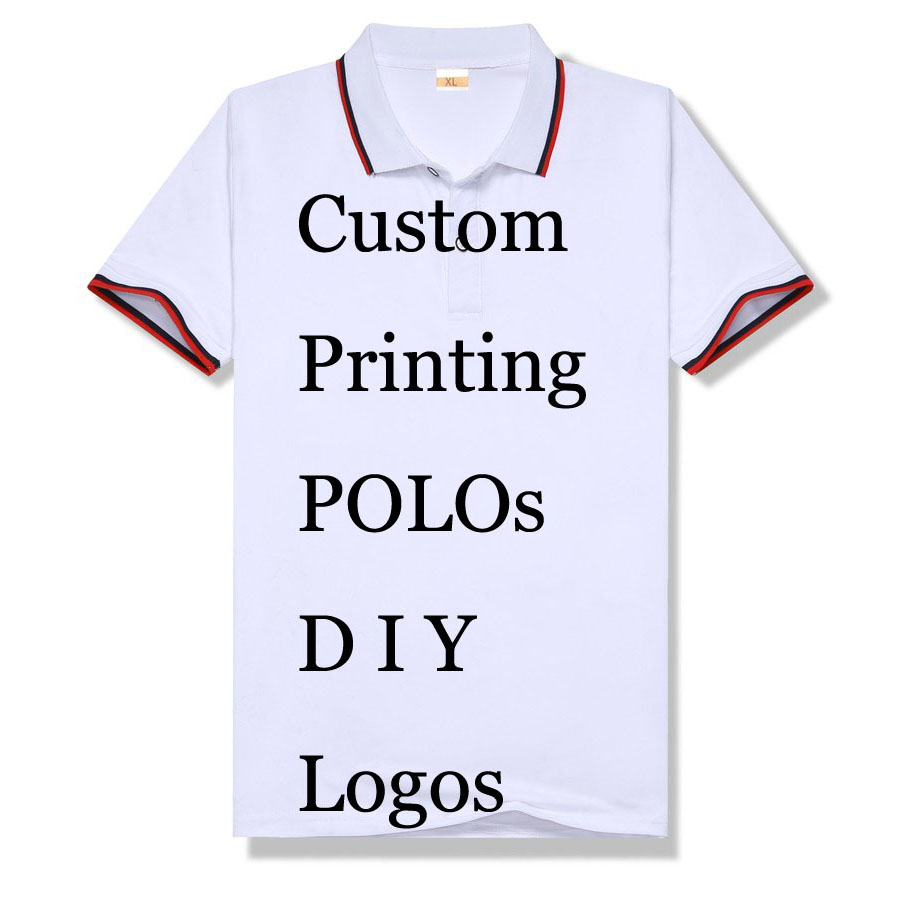 Print Your Own Design Custom Men Polo Shirts Homme Embroidery Polos