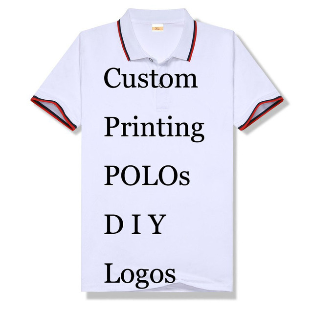 1df9830a2 Print Your Own Design Custom Men Polo Shirts Homme Embroidery Polos Design  Logos Dropping Shipping Unisex Personalized Modal Top
