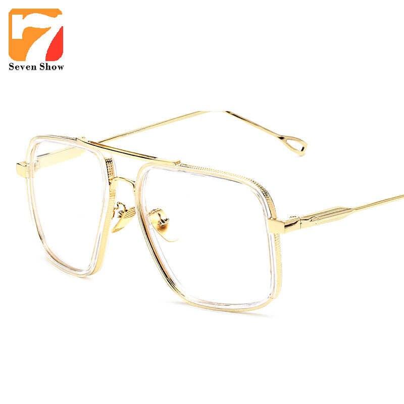 2fdf978ae31 2018 Brand Vintage Optical Prescription Clear Lens Glasses Frame Oversized Gold  Frames Eyeglasses for Women Men