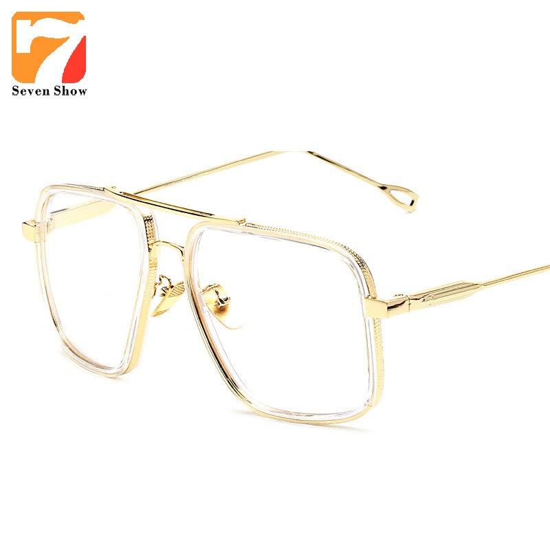 2018 marca de prescrição óptica do vintage lente clara óculos quadro oversized quadros ouro óculos para mulher