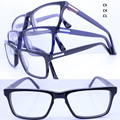 Wholesale RB25411 man simple acetate full-rim combined alloy buit-in flexible hinge temple square optical frames free shipping