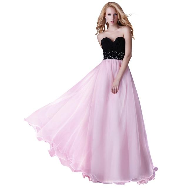Fotos reales sin mangas de novia rosa de tul largo elegante mujeres ...