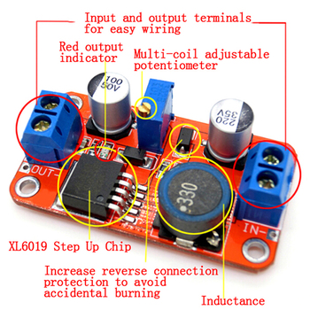 5A DC-DC Step Up Power Module Boost Volt Converter 3.3V-35V To 5V 6V 9V 12V 24V