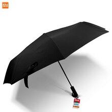 Автоматический зонт Xiaomi Mijia, три складных зонта с защитой от ультрафиолета, Солнечный дождливый зонт из алюминиевого сплава, автоматический зонтик от дождя