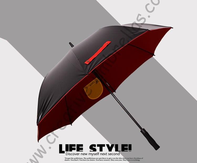 Diameter 120cm Real double layers fabric golf umbrellas.fiberglass,auto open,anti static,anti-thunder,inner pocket inside panel
