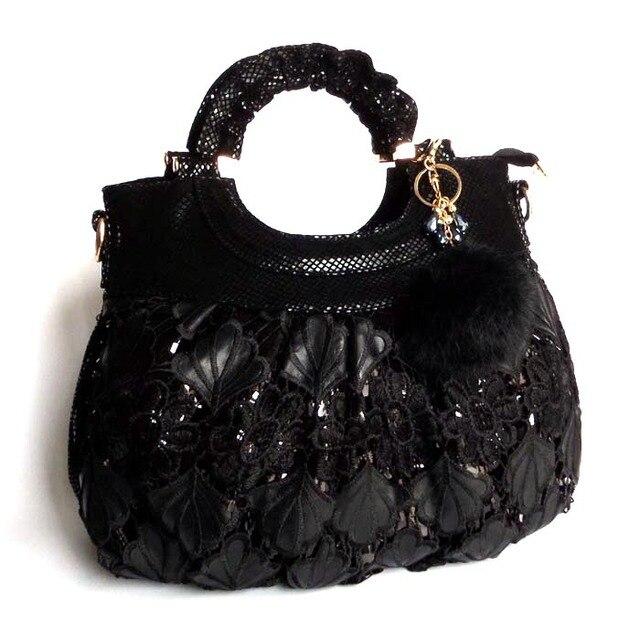2015 nova moda preto lantejoulas bolsa de ombro Diagonal