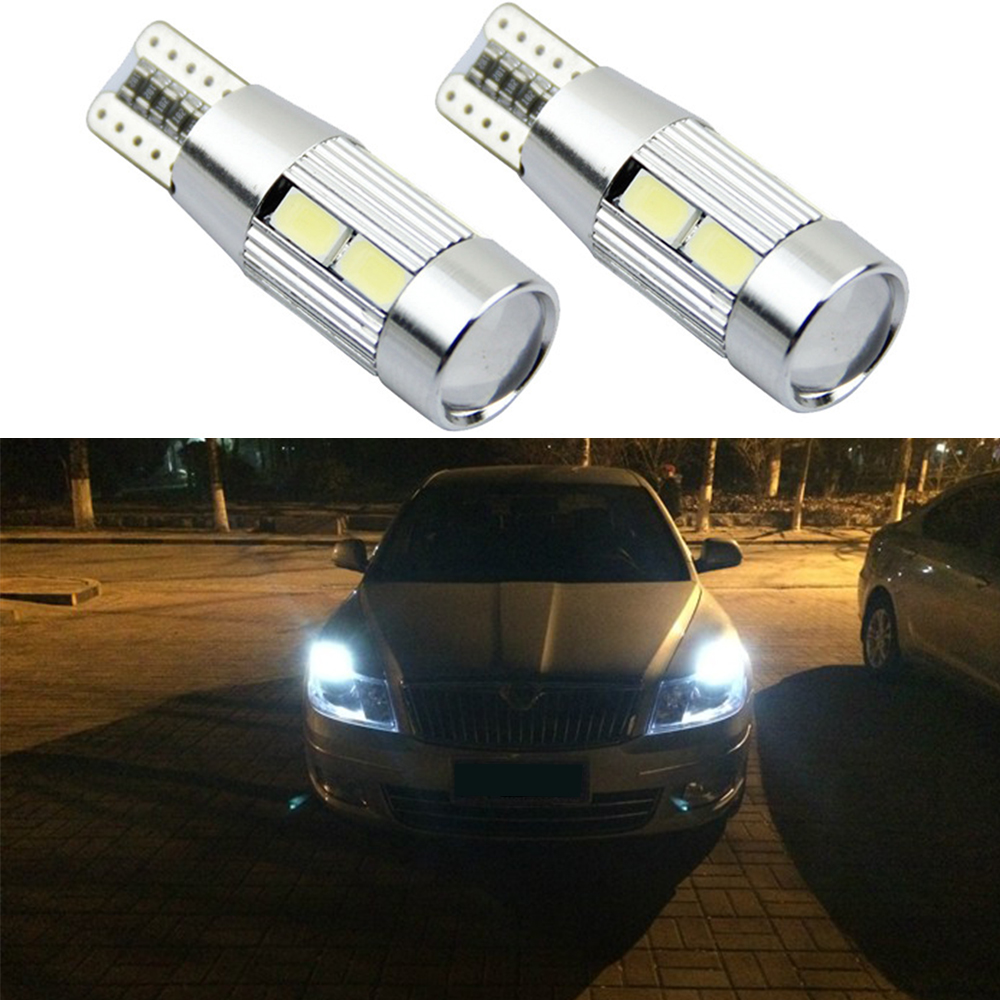 2pcs T10 W5W 5630 Car LED 10smd CANBUS Auto Lamp 12V Light Bulbs For Suzuki Grand Vitara Swift Sx4 Car Styling Accessories t10 3w 144lm 6 x smd 5630 led error free canbus white light car lamp dc 12v 2 pcs