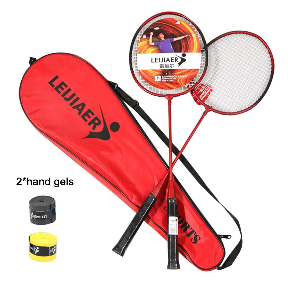 2pcs Badminton Rackets For Beginner Training Outdoor Sports